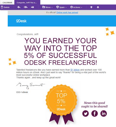 oDesk Top 5% badge