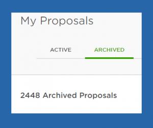 Upwork proposals archive