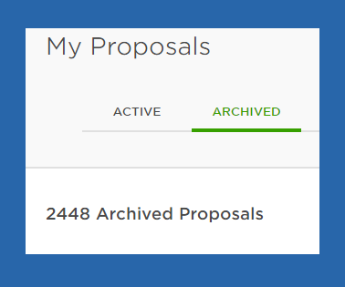 Upwork proposals archive