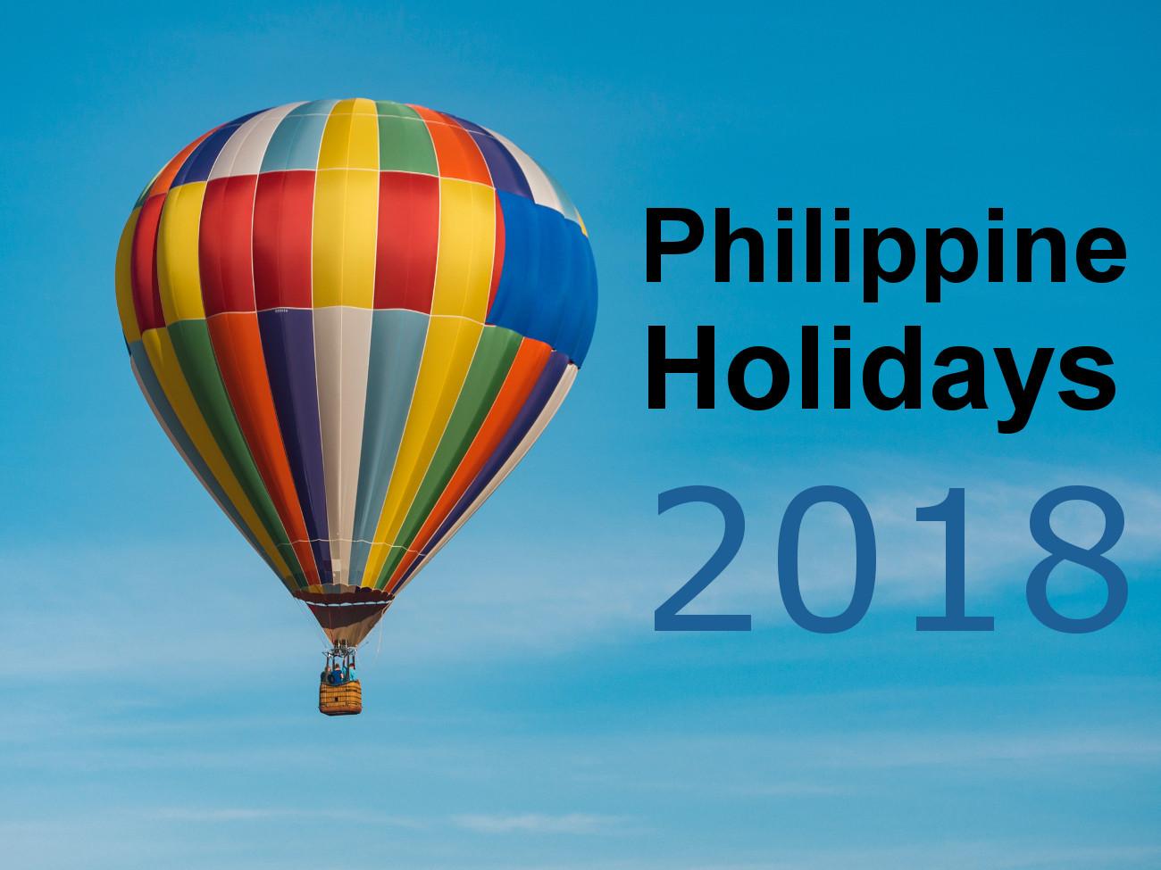 Philippine Holidays 2018 - Onlinejobsplus