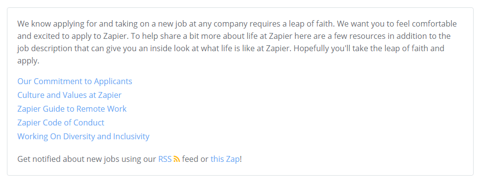Zapier's take on values, conduct, commitment, and culture